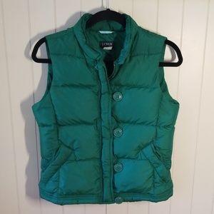 JCrew Down Vest, Zip Front w/Loop Buttons, Sz S